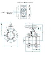 A459 Stainless Steel Ball Valve Dimension Diagram